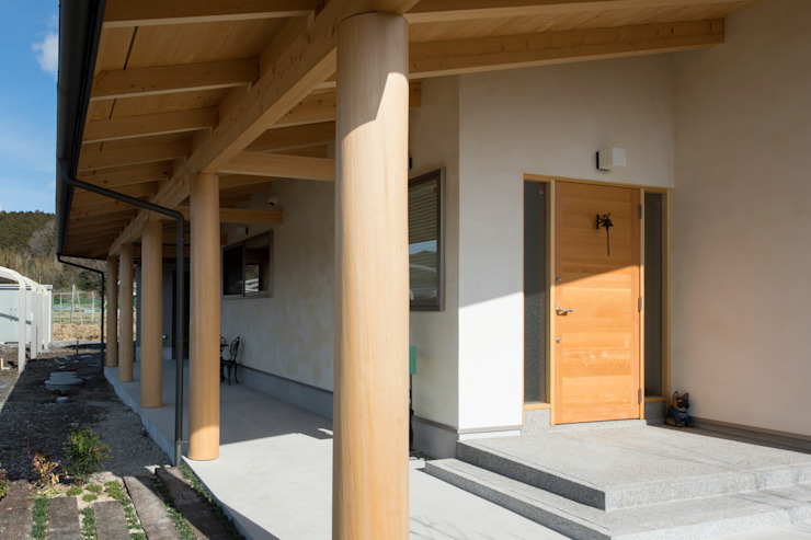 Eclectic style houses by 大森建築設計室 Eclectic Wood Wood effect