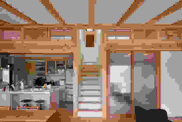 樹を繋ぐ家 オリジナルスタイルの 玄関&廊下&階段 の 大森建築設計室 オリジナル