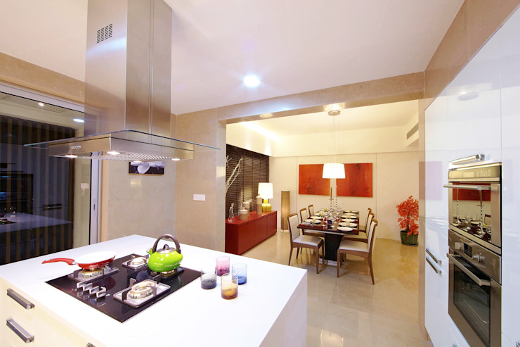 ABIL Experience Center—Castle Royale T4 Modern kitchen by Aijaz Hakim Architect [AHA] Modern