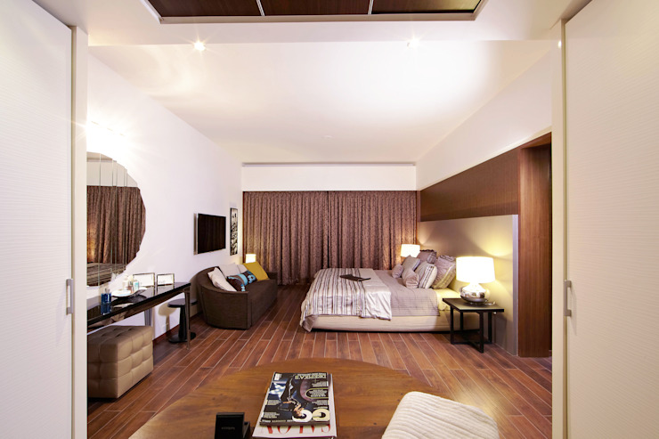 ABIL Experience Center—Castle Royale T4 Modern style bedroom by Aijaz Hakim Architect [AHA] Modern