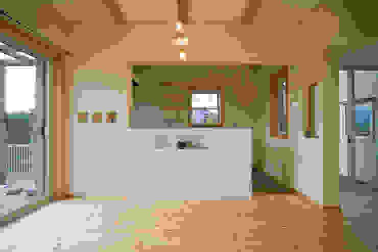 大森建築設計室 Ausgefallene Esszimmer Holz