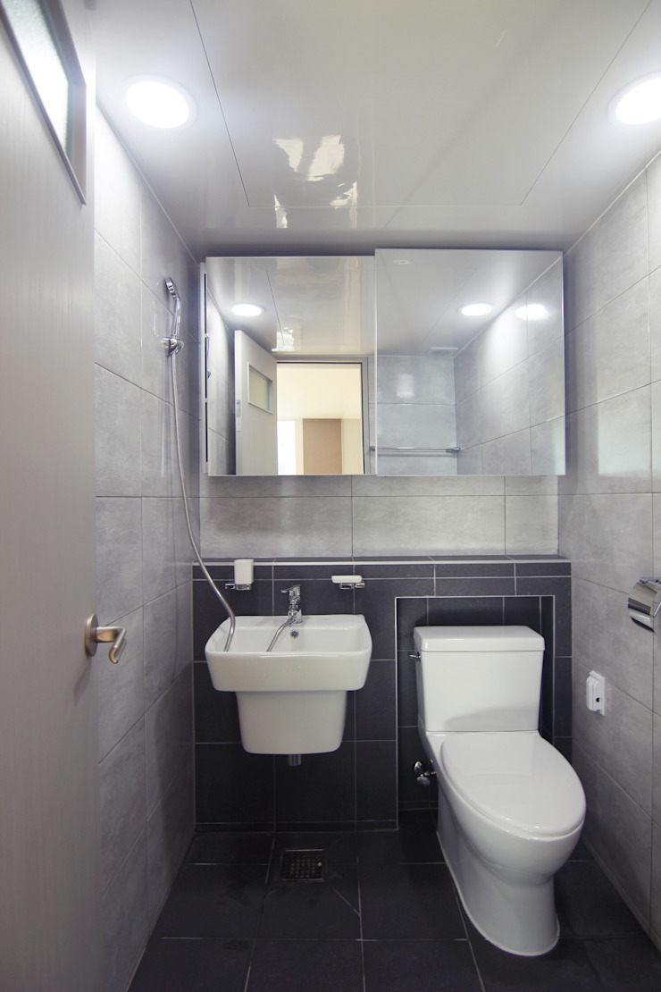 샛별마을 라이프 APT 109㎡ (before & after) 모던스타일 욕실 by Light&Salt Design 모던