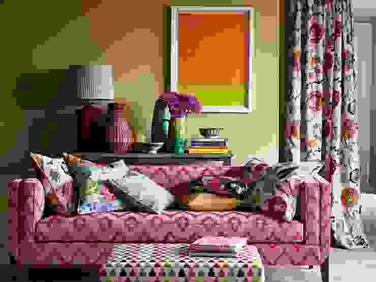 Also Autumn is Colorfull JaneChurchill di Emporio del Tessuto Moderno Tessuti Ambra/Oro