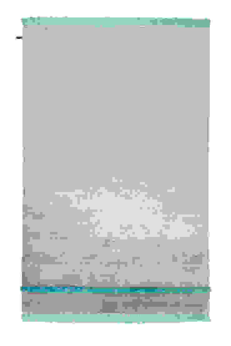 Funky Revolution ghost gray - peacock blue von Zimmermanns Kreatives Wohnen Ausgefallen Textil Bernstein/Gold