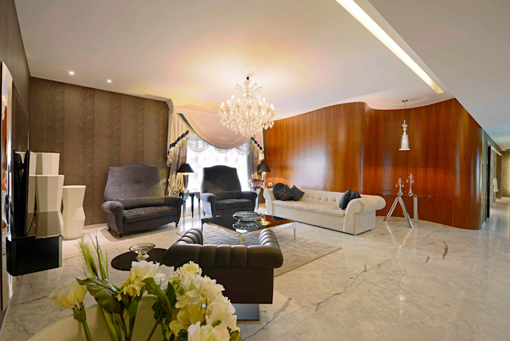 ABIL Experience Center - Castle Royale T7 Modern living room by Aijaz Hakim Architect [AHA] Modern