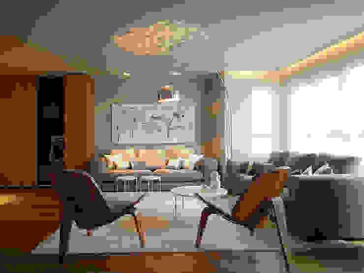 Apartamento con Allure Salones de estilo moderno de Sanchez y Delgado Moderno