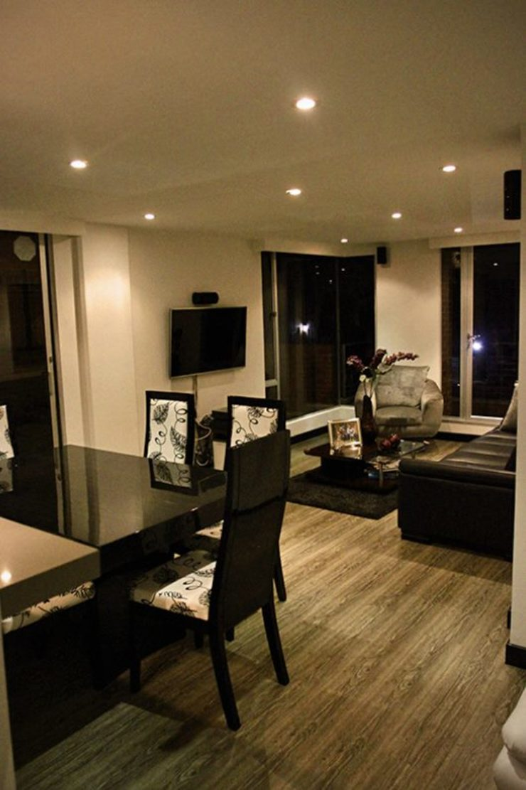 Proyectos Residenciales Salas modernas de MORAND ARQUITECTURA Moderno