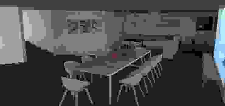 Modern Dining Room by Trianaarquitectos Modern