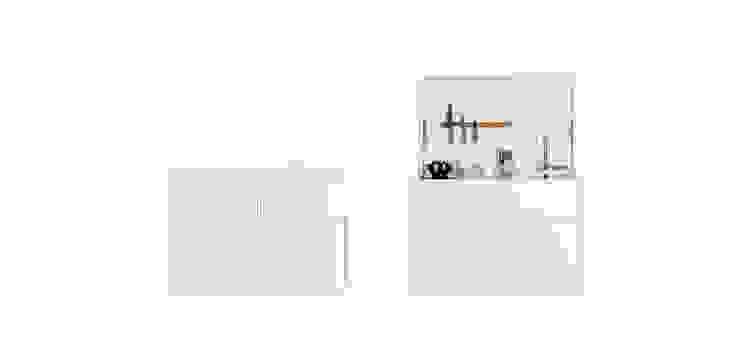 Charlotte Raynaud Studio KücheArbeitsplatten Holz Weiß