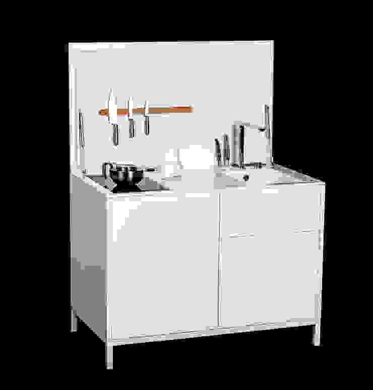 Charlotte Raynaud Studio KitchenCabinets & shelves Wood White