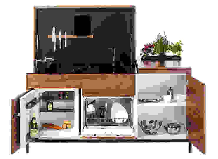 Mini-cuisine optmisée pour les petits espaces par Charlotte Raynaud Studio Moderne