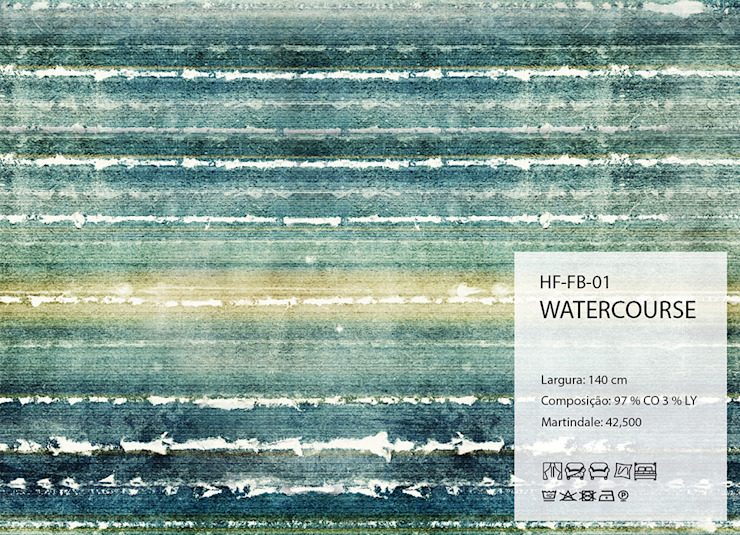 HF-FB-01-WATERCOURSE por House Frame Wallpaper & Fabrics Clássico