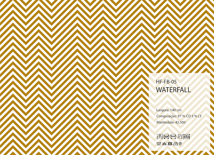 HF-FB-05-WATERFALL por House Frame Wallpaper & Fabrics Clássico