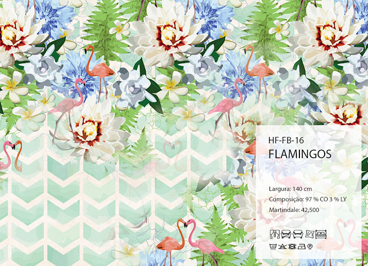 HF-FB-16-FLAMINGOS por House Frame Wallpaper & Fabrics Clássico