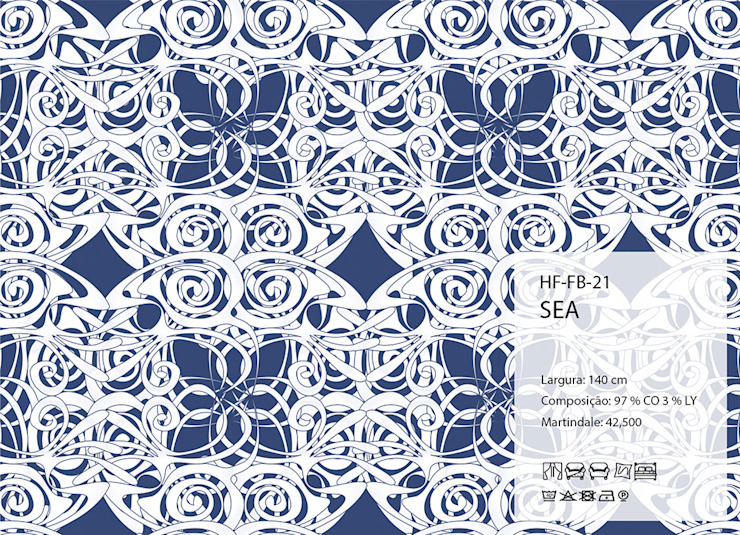 HF-FB-21-SEA por House Frame Wallpaper & Fabrics Clássico