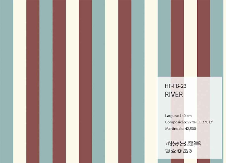 HF-FB-23-RIVER por House Frame Wallpaper & Fabrics Clássico
