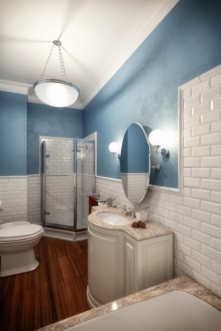 Classic style bathroom by Alexander Krivov Classic Tiles