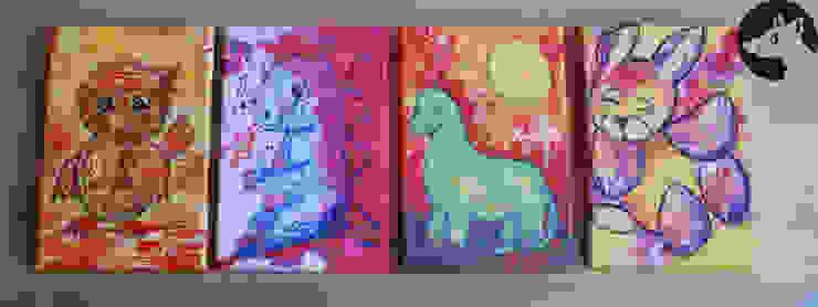 Druck auf Leinwand 20 cm x 30 cm: modern  von Little Walking Wolf,Modern