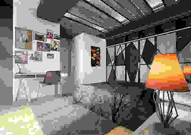 Point Dizayn – Yatak Odası : modern tarz , Modern Demir/Çelik