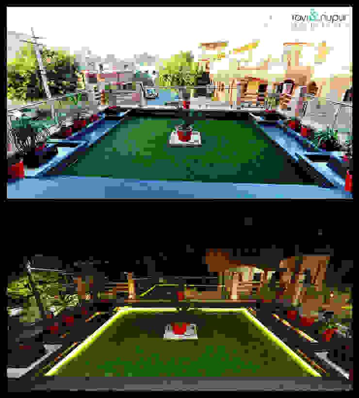 Terrace Landscaping Modern balcony, veranda & terrace by RAVI - NUPUR ARCHITECTS Modern Granite