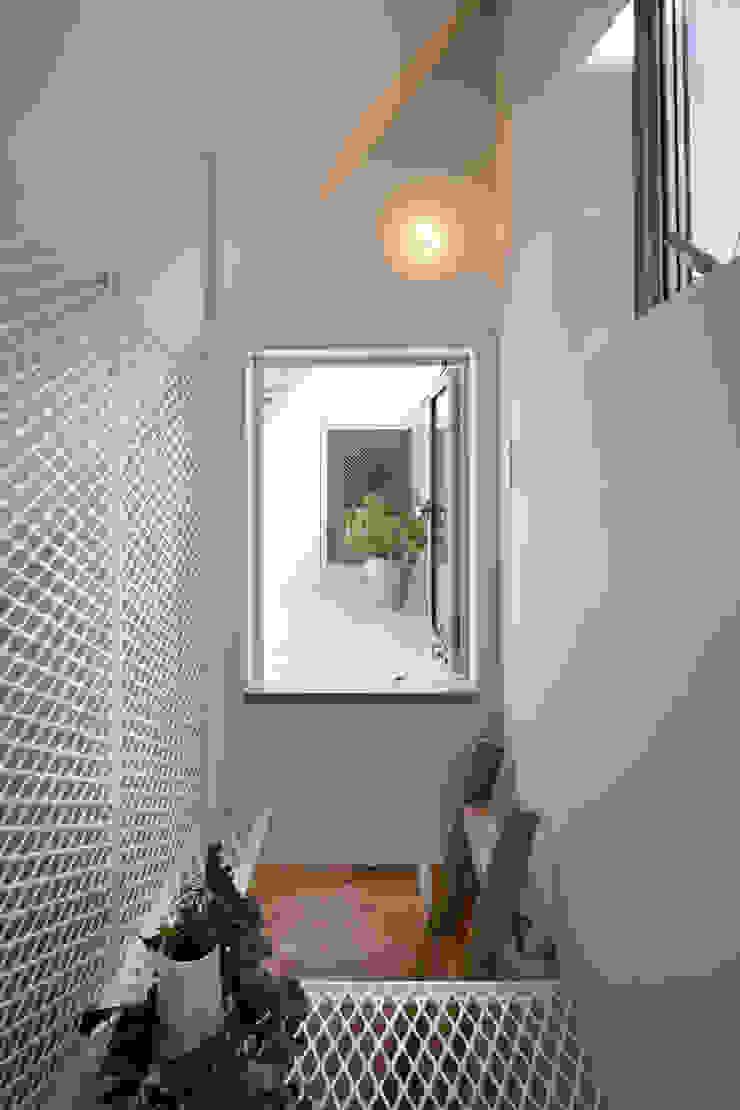 白金の家 モダンスタイルの 玄関&廊下&階段 の アトリエ スピノザ モダン