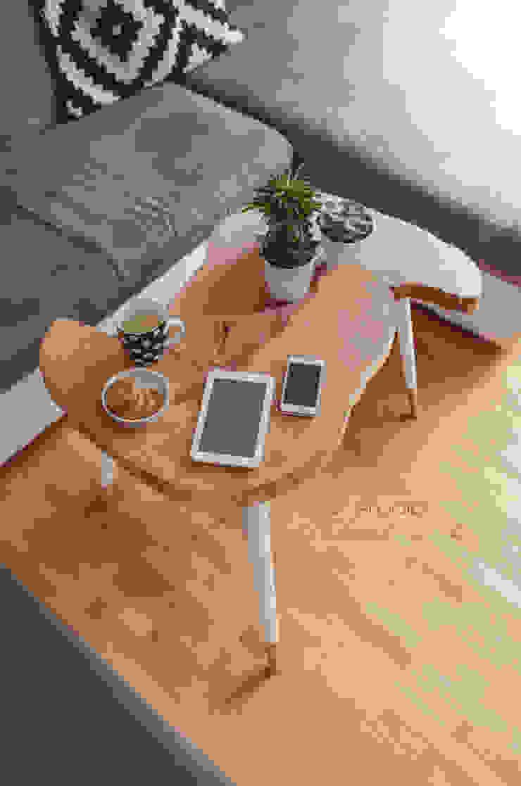Coffee Table Moon BIG / Stoliki kawowe Moon BIG od D2 Studio Skandynawski Drewno O efekcie drewna