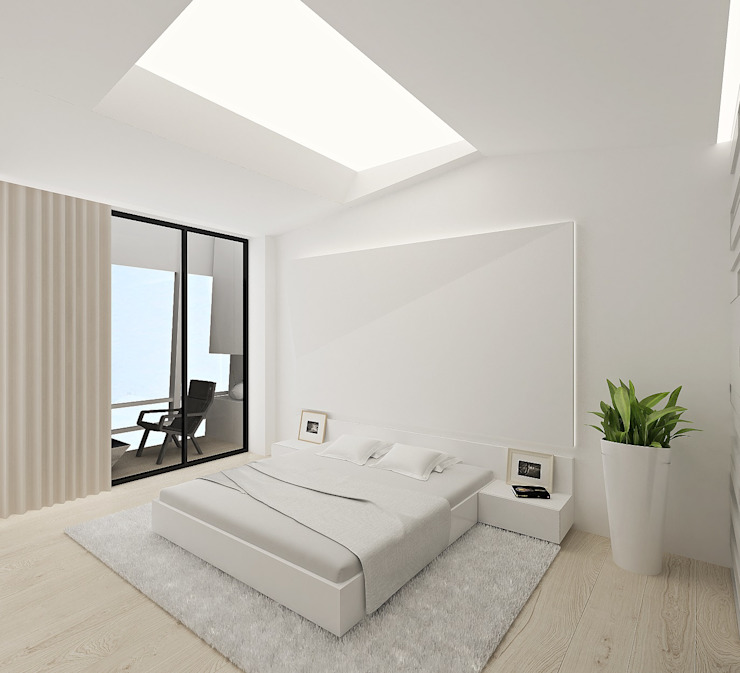 Dormitorios de estilo minimalista de ARCHDUET&DA Minimalista