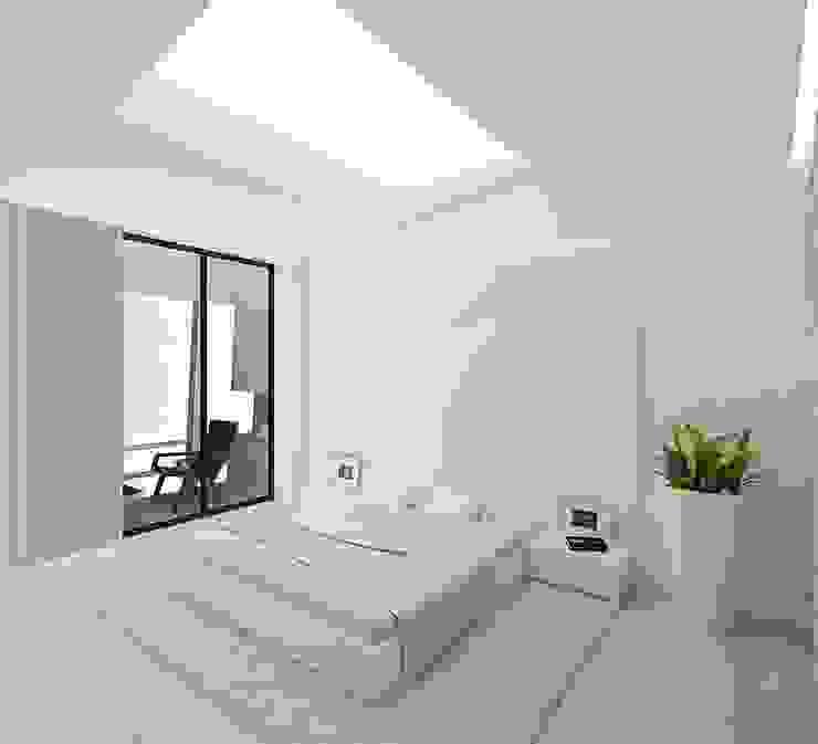 Quartos minimalistas por ARCHDUET&DA Minimalista