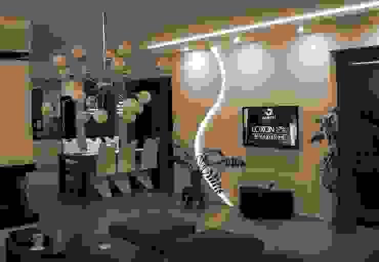 Modern living room by Pracownia Projektowa ARCHIPELAG Modern