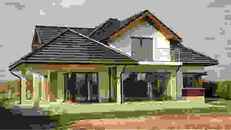 Dom Naomi G2 - stylowa elegancja i luksus przestrzeni we wnętrzu! Nowoczesne domy od Pracownia Projektowa ARCHIPELAG Nowoczesny