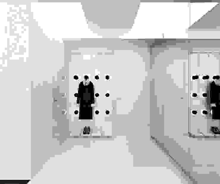 Квартира на Машиностроения Коридор, прихожая и лестница в стиле минимализм от ARCHDUET&DA Минимализм