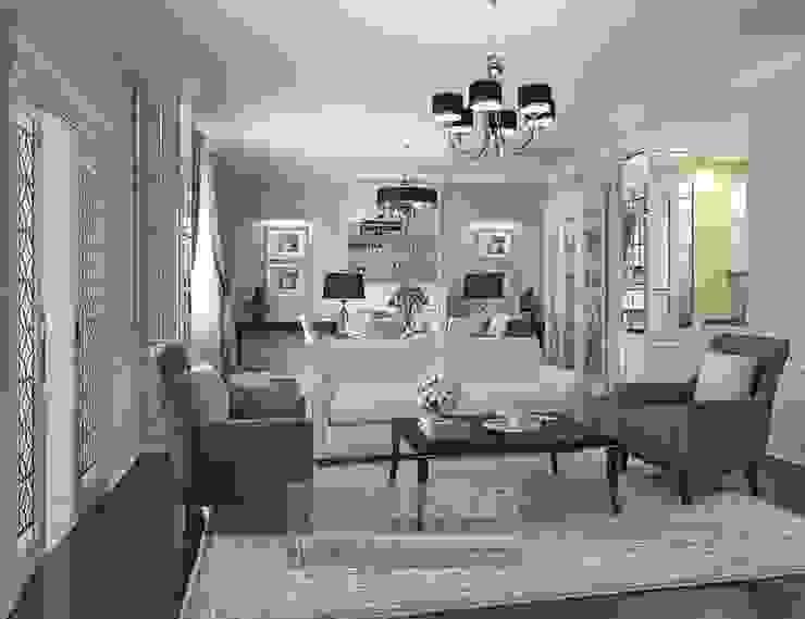 Арт-деко в дизайне гостиной: фото: Гостиная в . Автор – Olga's Studio, Классический
