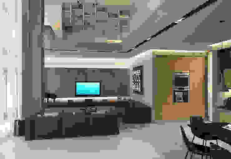 Salas de estilo industrial de Studio 25 Industrial