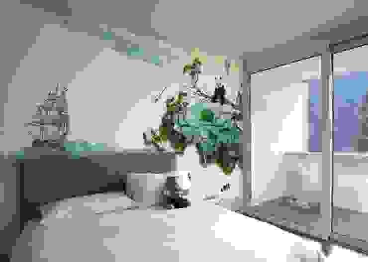 HF005-Panda-Bear por House Frame Wallpaper & Fabrics