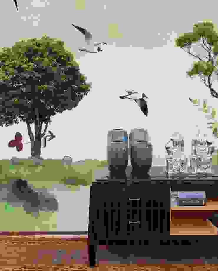 HF006-Two-Trees por House Frame Wallpaper & Fabrics