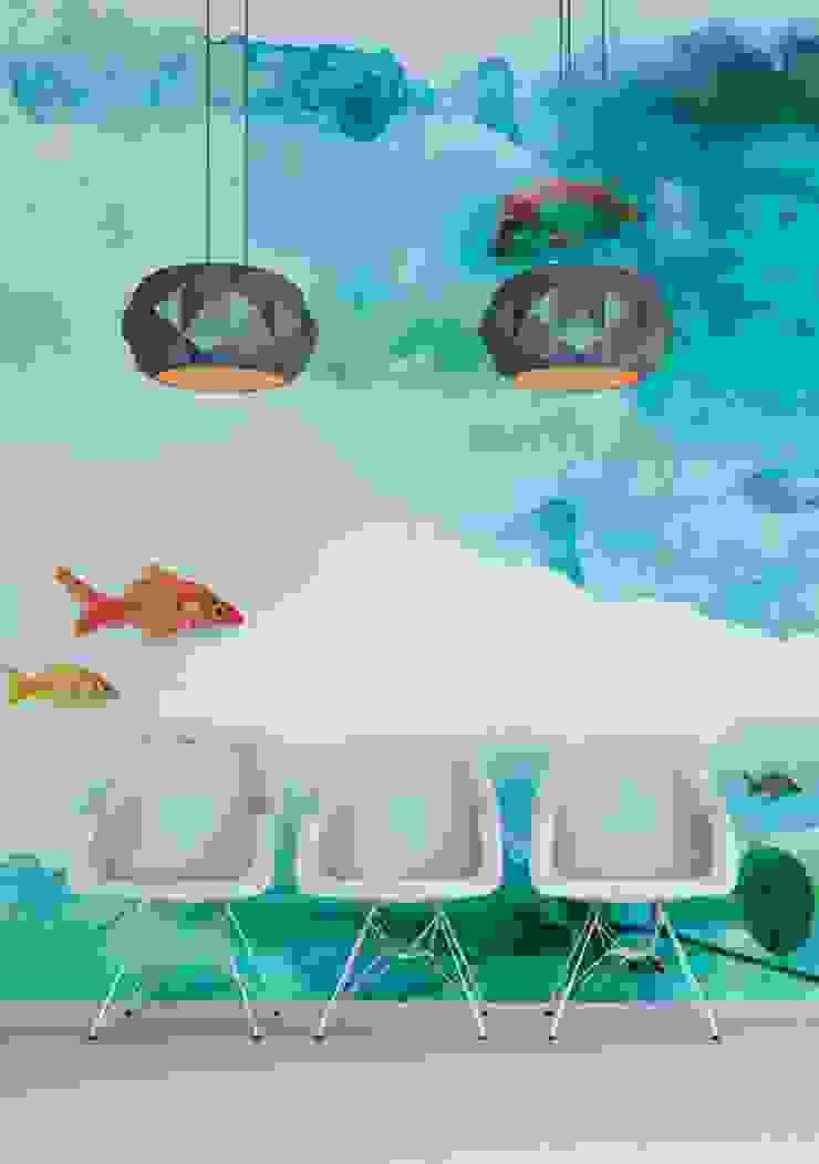 HF007-Aquarium por House Frame Wallpaper & Fabrics