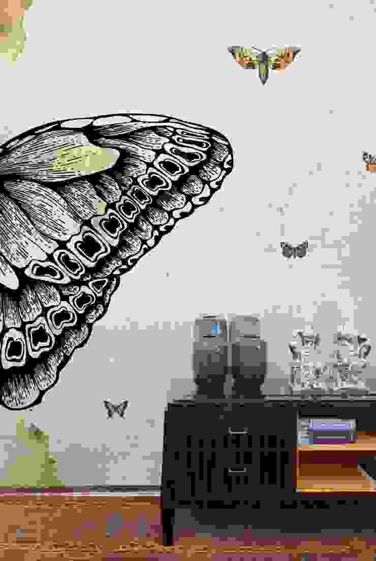 HF036-Butterflies por House Frame Wallpaper & Fabrics