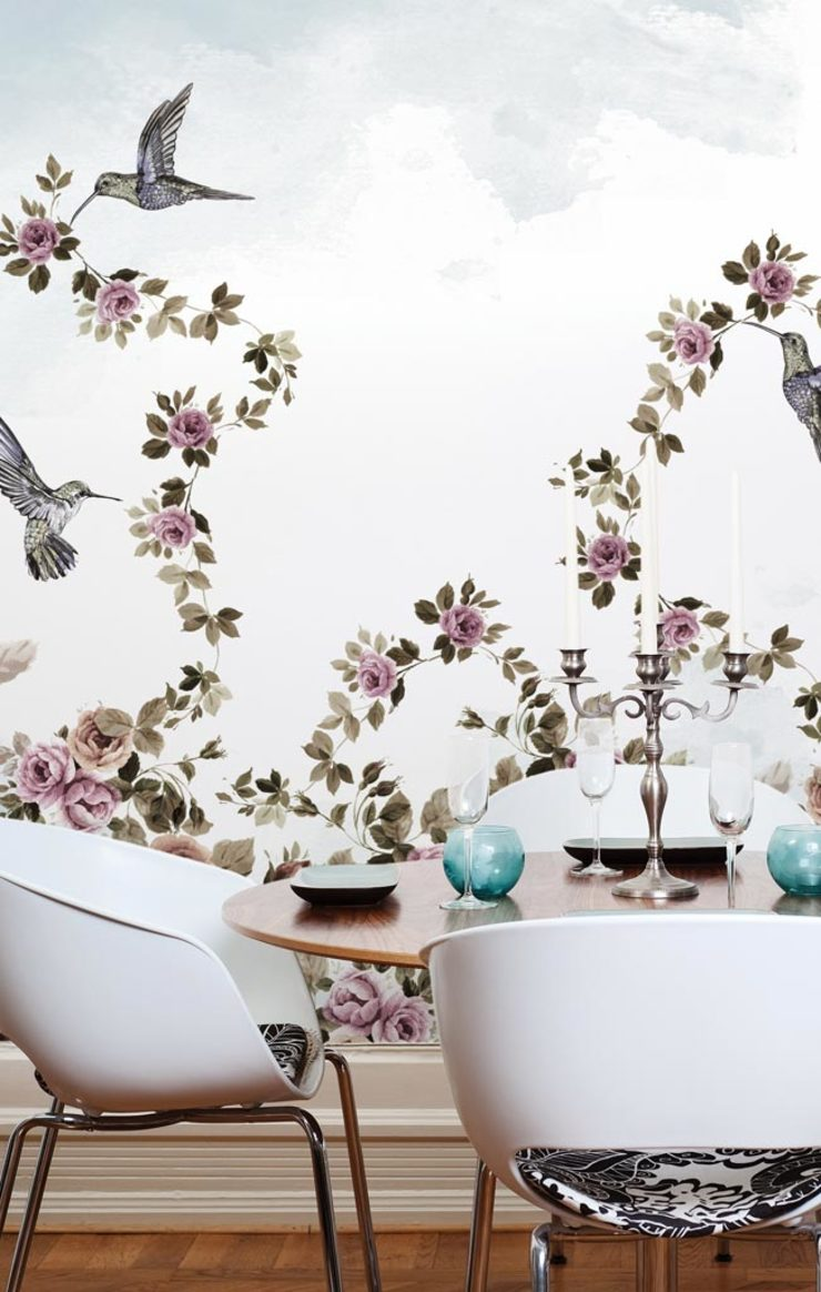 HF037-01-Chains-of-flowers por House Frame Wallpaper & Fabrics