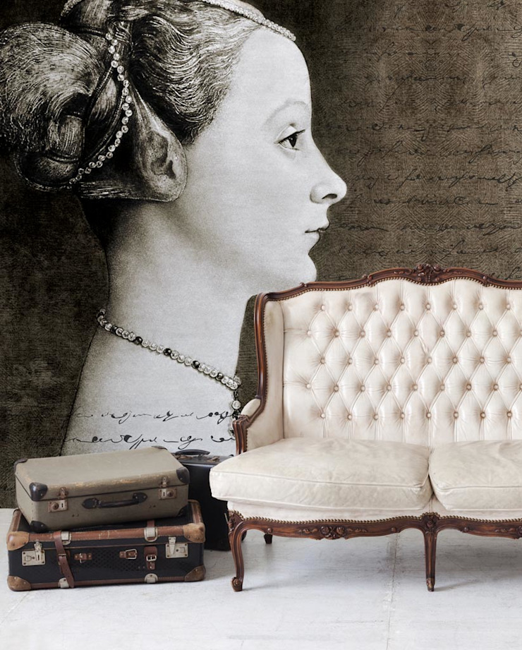 HF042-Young-girl por House Frame Wallpaper & Fabrics