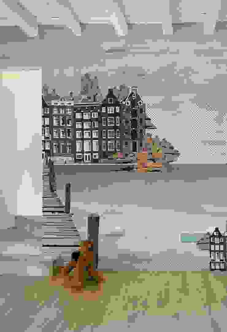HF014-City-in-the-Clouds por House Frame Wallpaper & Fabrics
