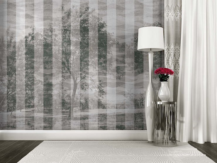 HF052-Black and White por House Frame Wallpaper & Fabrics