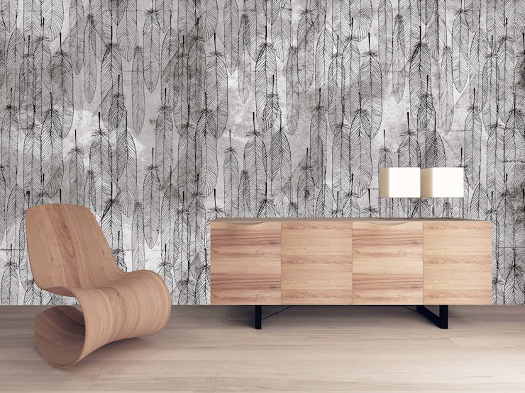 HF059-Feathers.jpg por House Frame Wallpaper & Fabrics