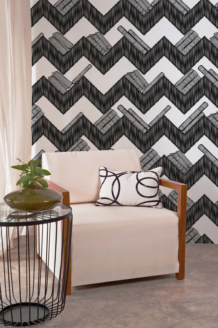 HF074-Zig Zag Shelf por House Frame Wallpaper & Fabrics