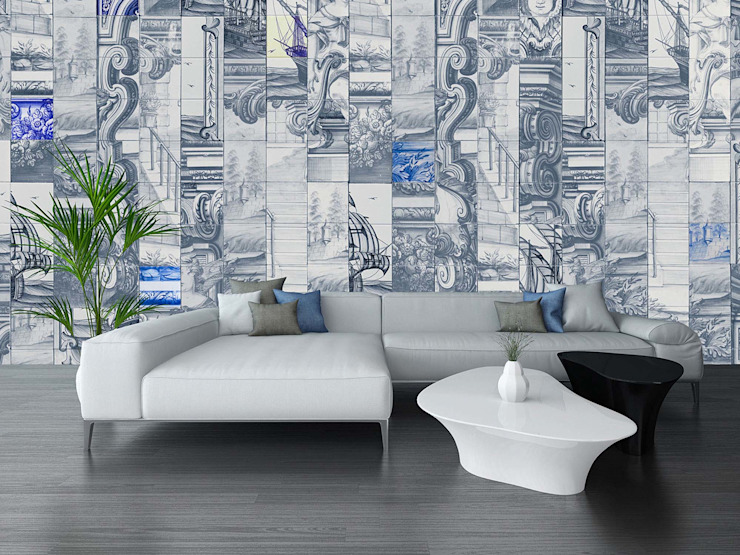 HF076-Painted Puzzle por House Frame Wallpaper & Fabrics