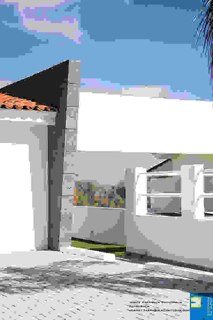 ingreso principal Casas modernas de Excelencia en Diseño Moderno Ladrillos