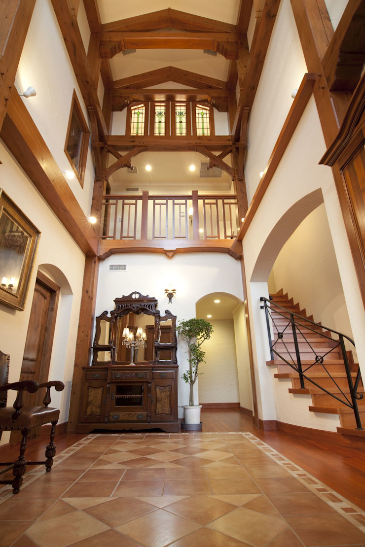 NI house | SANKAIDO ラスティックスタイルの 玄関&廊下&階段 の SANKAIDO | 株式会社 参會堂 ラスティック