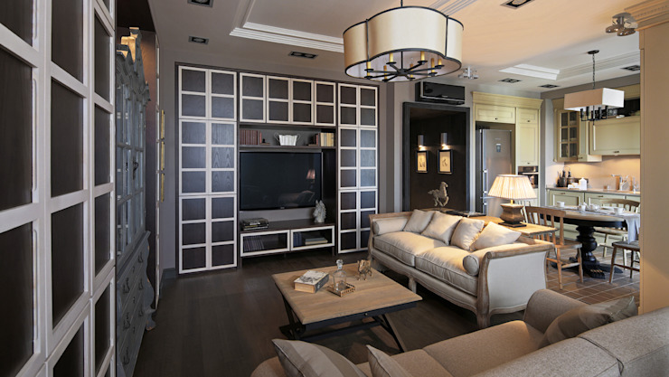 Living room by Petr Kozeykin Designs LLC, 'PS Pierreswatch'