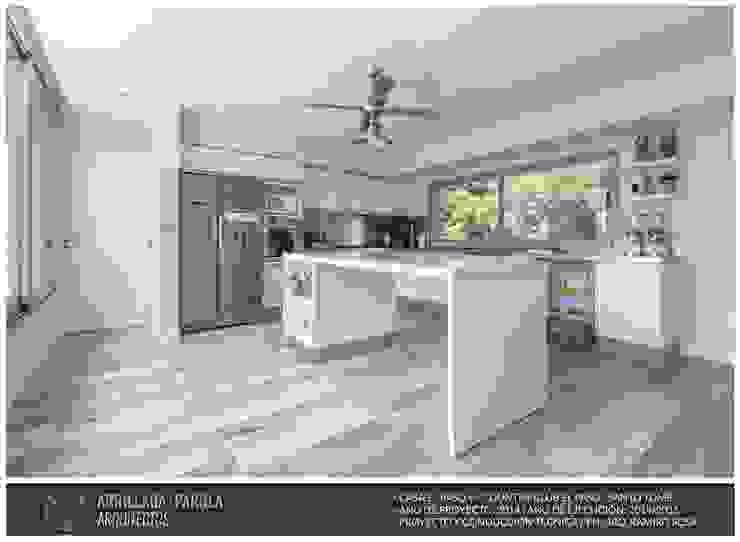 Casa El Paso V: Cocinas de estilo  por ARRILLAGA&PAROLA