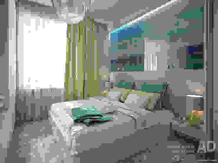 Дизайн интерьера квартиры с перепланировкой из 2-комнатной в 4-ехкомнатную, 68 кв. м, г. Москва Спальня в стиле модерн от Ad-home Модерн