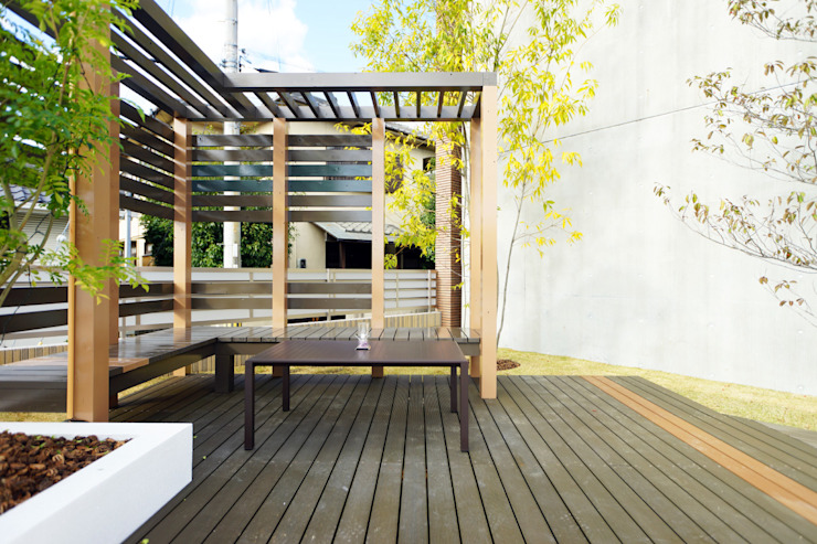 水景を巡るテラスの庭 2015~ オリジナルな 庭 の にわいろSTYLE オリジナル